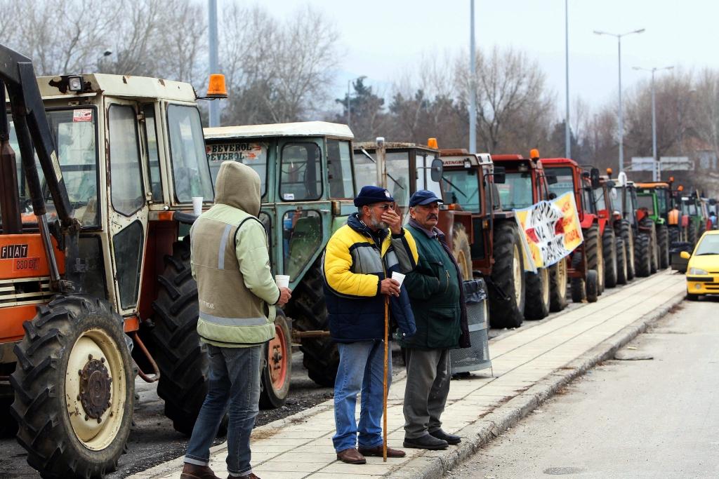 Greek farmers protest