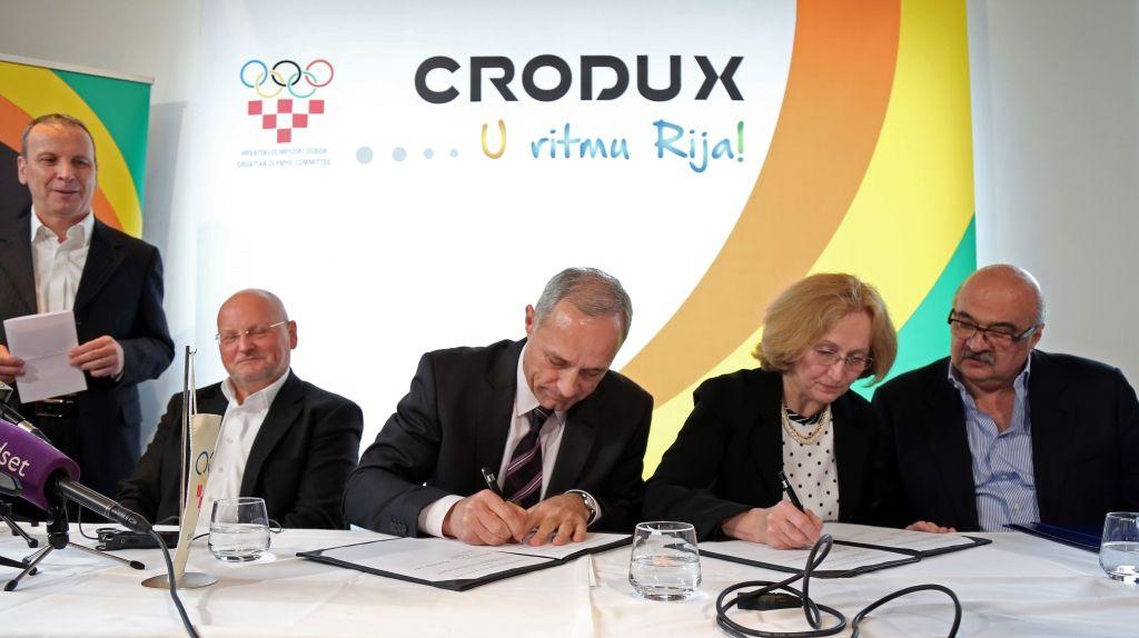 Sponzorski ugovor izmeðu Hrvatskog olimpijskog odbora i tvrtke Crodux