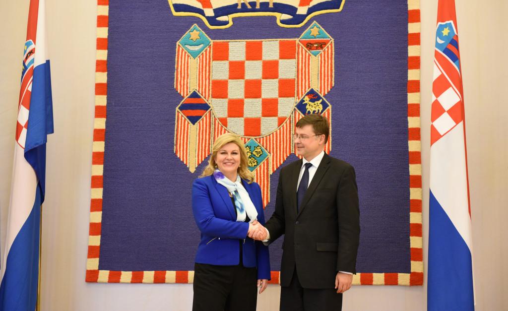 Predsjednica Republike Hrvatske primila potpredsjednika Europske